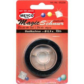 Elastische Magic-Schnur, ø 0,9mm, 8m, schwarz