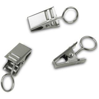 Metall-Clip mit Öse =15 Stck. silber