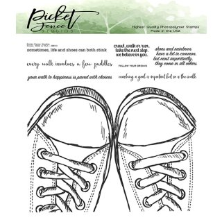 Picket Fence Studios Walk, Crawl or Run Clear Stamps (BB-133)