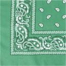 Bedrucktes Bandana-Tuch, Größe 55x55 cm, dunkelgrün