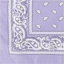 Bedrucktes Bandana-Tuch, Größe 55x55 cm,  lila
