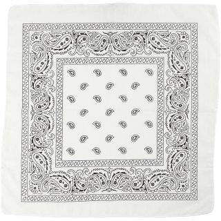 Bedrucktes Bandana-Tuch, Größe 55x55 cm,  weiß