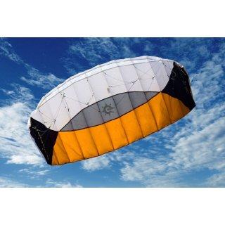 Sigma Spirit 3.0, schwarz/weiß/orange, rtf   270 x 110 cm, Dyneemaschnur - Winder - Schlaufen - 180 daN/25 m,  Bft 1,5 - 6