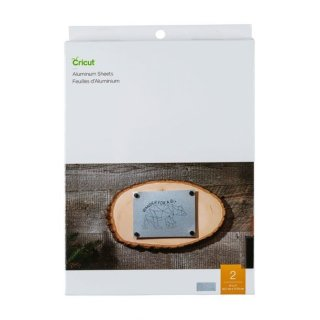 Crictut Aluminiumblech zum Gravieren 12,7x17,7 cm (2 Stück)