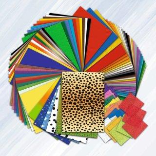 Basteln ohne Ende, 164 Blatt, sortiert in verschiedenen Materialien, Farben und Motiven