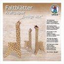 """Faltblätter Kraftpapier """"Design Mix"""" 80..."""
