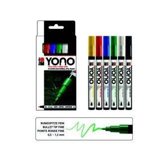 Marabu YONO Marker Set, 6 x 0,5-1,5 mm