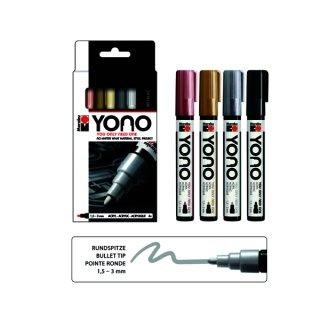 Marabu YONO Marker Set METAL, 4 x 1,5-3 mm